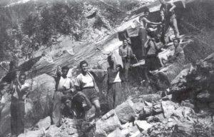 Cava di arenaria a Casa Berni (Rasora), 1961